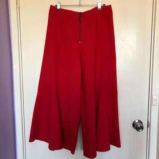Red Flare Culottes
