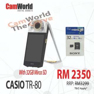 CASIO TR-80 WITH SONY 32GB 4K CARD