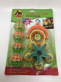 Value Pack 3 in 1 Small Parrot Intertwine Ball Bell Rotating Toys