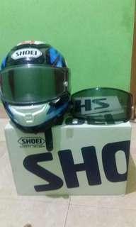 Shoei x14 bradley smith , msh komplit , size L , min (-) sarung helm , ada dent sedikit