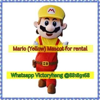 Mario (Yellow) Mascot for rental