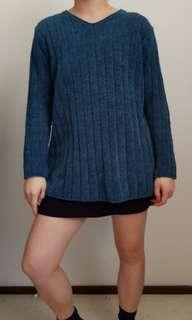 Teal V neck sweater size S