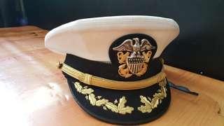 美國海軍高級長官帽連帽章