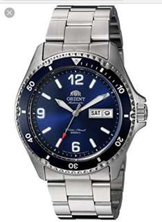 Orient Mako II Blue Dial FAA02002D9 Automatic 200m Dive Watch with SS Bracelet