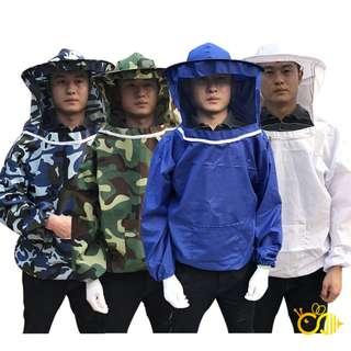 [廠商直銷]養蜂專用 防蜂衣 防蜂服 養蜂服 養蜂衣 養蜂工具 面網蜂帽連衣一體 防蜂 防蚊