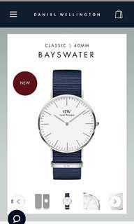 *reduced* Daniel Wellington Classic Bayswater 40mm Silver + Roselyn strap