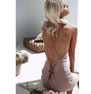 Kelsey Open Back Tie Dress