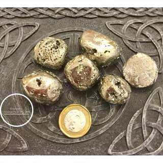 Pyrite Crystal Tumbled AA grade large per piece estimated 20~40gm * sold by per piece