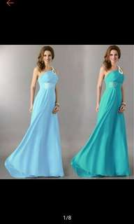 Women Long Chiffon Bridesmaid Formal Gown Party Dress