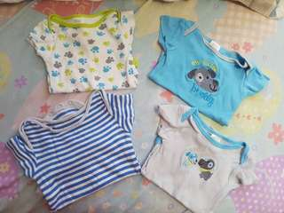 8 pcs Onesies for 0-3 months baby boy