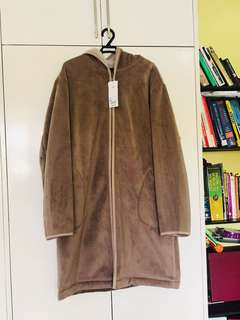Hooded Fleece lined Winter Coat