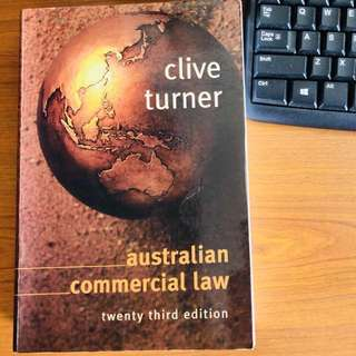 Book - AUSTRALIAN COMMERCIAL LAW 23th edition (K011)