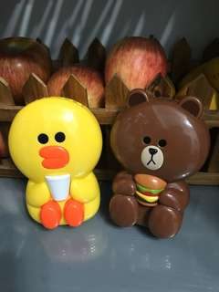 Line Friends電風扇(內含電池,Brown&Sally