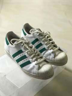 Adidas Superstar Leather - 100% Originals - UK 9 - NO BOX