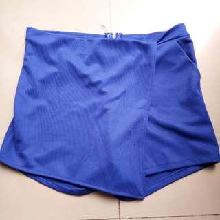 electric blue skort