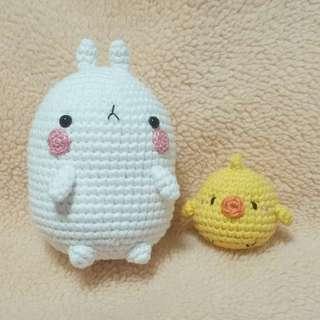 Amigurumi (crochet) Molang & Piu Piu