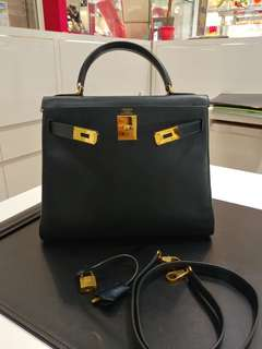 Hermes kelly 28 navy blue