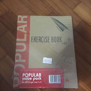 BN single line exercise book (6 books)