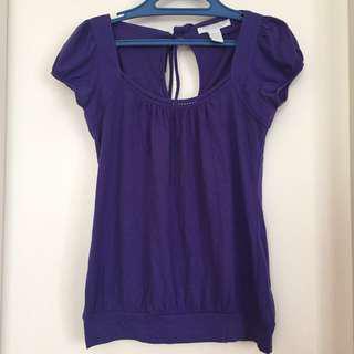 Charlotte Russe Purple Capsleeve Top