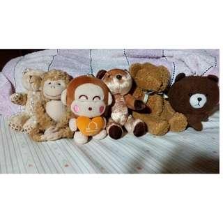 毛絨玩偶 熊 猴子 熊大