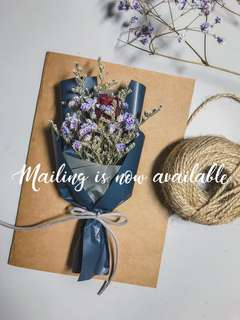 Dried Flower Bouquet Card