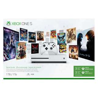 Brand New Xbox One S 1TB Console Starter Pack With Free PUBG Disc Game