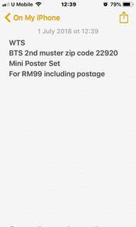 BTS 2nd Muster Mini Poster Set