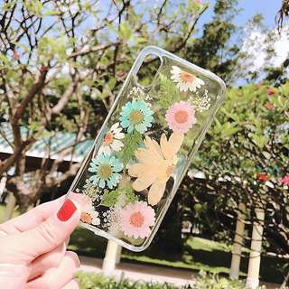 Handmade Real Flower Phone Case for iPhone X