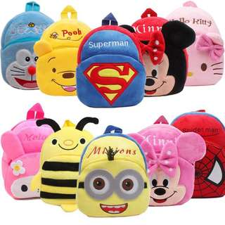 Kids Backpack school lunch bag field trip haversack cute cartoon characters soft lightweight material suitable for children kids toddlers child boy and girl