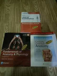 Medical Books Clinical Examination, Anatomy and Physiology