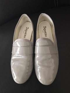excellent condition Repetto patent grey mocassins - 36.5 - fits 5.5-6