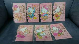 [Any 3 @ $6.88] Pink Mini Hello Kitty Ang Pow Packs / Red Packets
