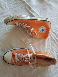 Peach Converse hightops