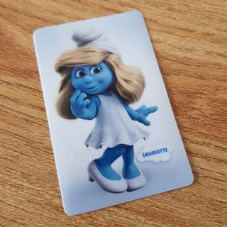 (Mailed) Smurfette Ezlink Card Sticker