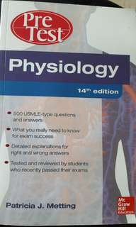 Pre test physiology