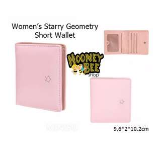 Japan Quality - Dompet Women Starry Geometry Short Wallet Miniso