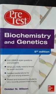 Pre test biochemistry and genetics