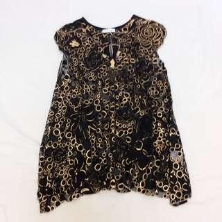 ❎❎清倉跳樓不議價❎❎ $480>$430 日本 全新 tsumori chisato 黑色透視連身裙