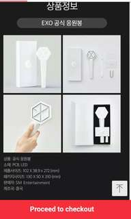 [FAST PREORDER, CLOSE TONIGHT!!] EXO Official Lightstick