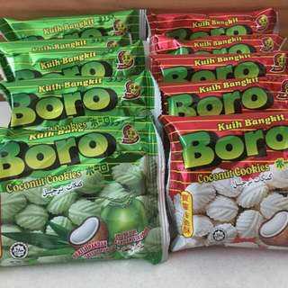 🚚 Sale : Boro Biscuit Set ( 1 bag of original and 1 bag of pandan flavour)