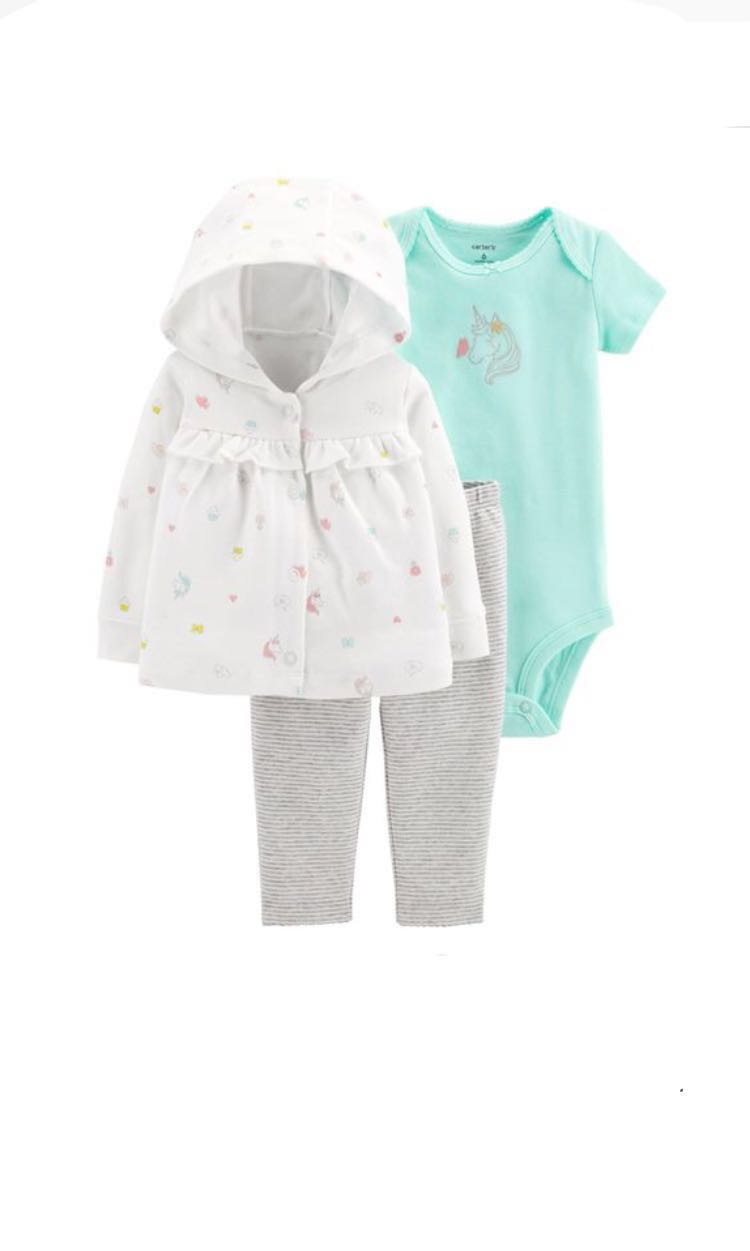 0b73326b5 🌟12M Carter s Baby Girl 3-piece Little Cardigan Set