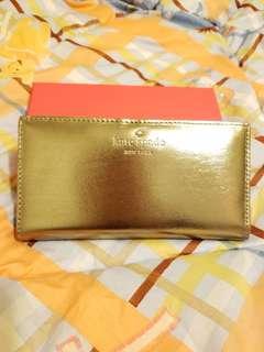 Kate Spade 金色銀包
