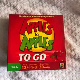 Apples to apples: to go edition