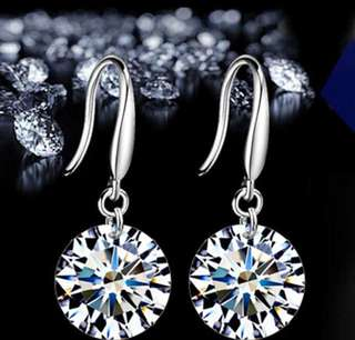Crystal Diamond Earrings