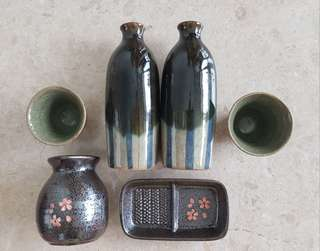 Japanese traditional SAKE set
