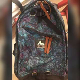 Gregory daypack 藍花