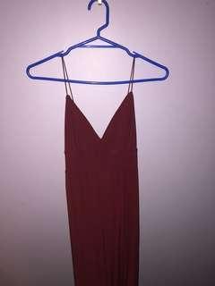 Maroon ball dress