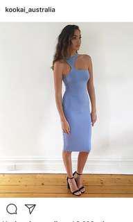 Kookai Blue Gala Midi Dress