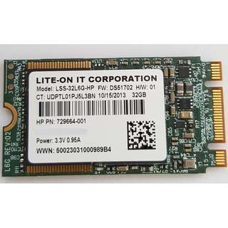 Lite-On 32GB M.2 SSD HDD LSS-32L6G-HP for HP 729664-001/002