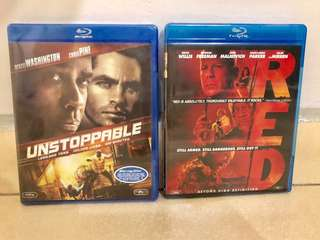BNIP Blu-Ray Discs (RED and Unstoppable)